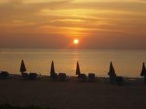 Coucher du soleil à Phuket, Thaïlande Images libres de droits