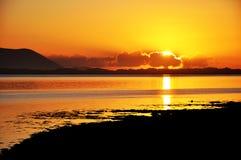Coucher du soleil à pouce, Cie. Kerry, Irlande 2 Photo libre de droits