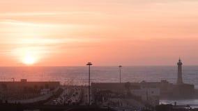 Coucher du soleil à Rabat Photographie stock