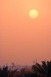 Coucher du soleil à Riyadh Photos stock