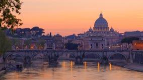 Coucher du soleil à Rome, Italie Photos stock
