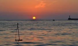 Coucher du soleil à Sébastopol Image stock
