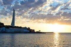 Coucher du soleil à Sébastopol Photos libres de droits