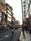 Coucher du soleil à Séoul Photographie stock libre de droits