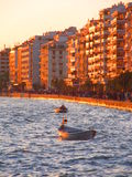 Coucher du soleil à Salonique Image stock