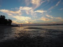 Coucher du soleil à San Diego Photos libres de droits