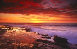 Coucher du soleil à San Diego Images libres de droits