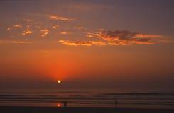 Coucher du soleil à San Diego photo stock