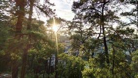 Coucher du soleil à Shillong Photographie stock libre de droits