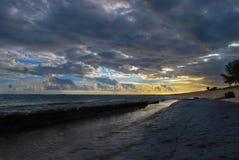 Coucher du soleil à St Felix - les Îles Maurice Images libres de droits