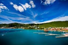 Coucher du soleil à St Thomas Photo libre de droits