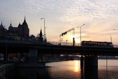 Coucher du soleil à Stockholm, Suède Photos libres de droits