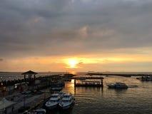 Coucher du soleil à Taïpeh Photo libre de droits