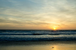 Coucher du soleil à Tarifa photos libres de droits