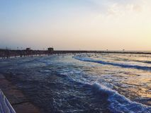 Coucher du soleil à Tel Aviv photo libre de droits
