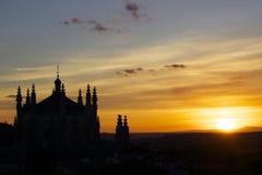 Coucher du soleil à Toledo Image libre de droits