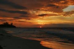Coucher du soleil à Varadero Photo libre de droits