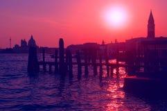 Coucher du soleil à Venise Photo libre de droits