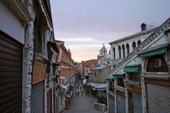 Coucher du soleil à Venise images libres de droits