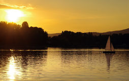 Coucher du soleil à Vienne Photo libre de droits