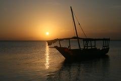 Coucher du soleil à Zanzibar Images stock