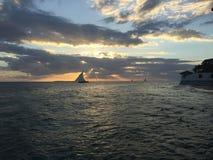 Coucher du soleil à Zanzibar Photographie stock