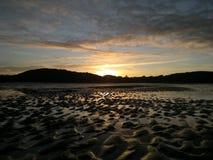 Coucher du soleil écossais Photos libres de droits