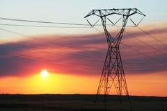 Coucher du soleil électrique Images libres de droits