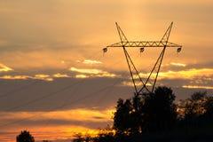 Coucher du soleil électrique Image stock