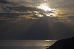 Coucher du soleil épique Photos stock