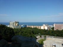 Coucher du soleil étonnant à Varna Bulgarie photos stock
