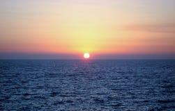 Coucher du soleil étonnant images libres de droits