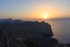 Coucher du soleil étonnant pur dans Palma images libres de droits