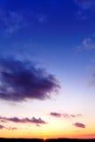 Coucher du soleil 1 de l'hiver Photographie stock libre de droits