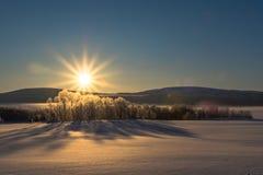 Coucher du soleil photographie stock