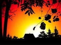 Coucher du soleil illustration stock
