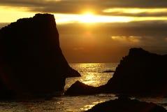 Coucher du soleil 2 de côte de l'Orégon Images stock