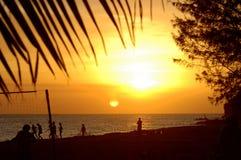 Coucher du soleil 2 de compartiment de frégate Photo libre de droits