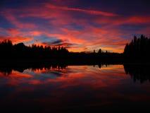 Coucher du soleil 2 de Tuolumne Image stock