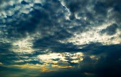 Coucher du soleil. Photo stock
