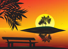 Coucher du soleil. illustration libre de droits