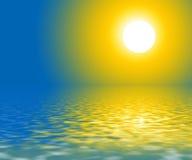 Coucher du soleil    illustration de vecteur