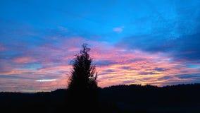 Coucher du soleil 2015 Image stock