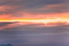 Coucher du soleil Image libre de droits