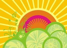 Coucher du soleil abstrait Images libres de droits