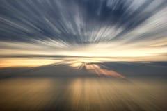 Coucher du soleil abstrait d'océan Photos libres de droits