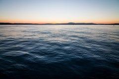 Coucher du soleil adriatique Photographie stock