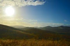 Coucher du soleil africain Photographie stock