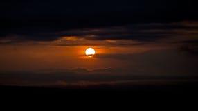 Coucher du soleil africain Photos stock