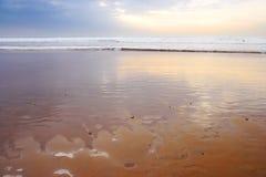Coucher du soleil - Agadir, Maroc photos stock